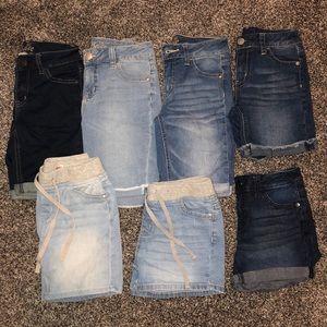 7 Pairs Girls 12 Slim Justice Shorts School Lot